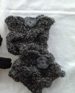 Chunky Cabled Boot Cuffs - Knit