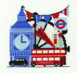 DMC London Sight-Seeing 14 Count Cross Stitch Kit - 15.2cm x 15.2cm
