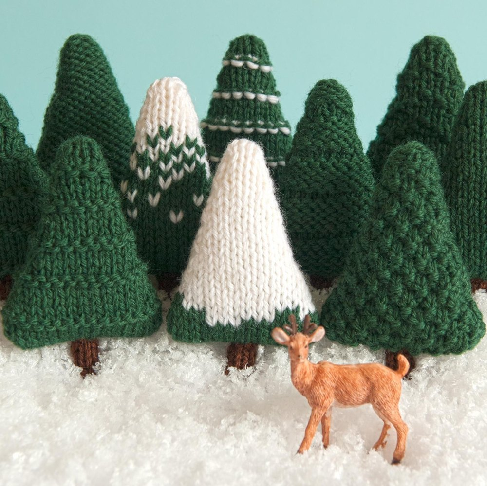 Christmas Trees Knitting Pattern Knitting Pattern By