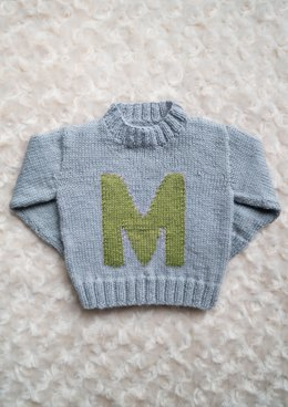 Intarsia Letter M Chart Childrens Sweater