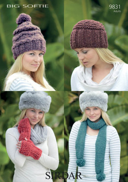 Hats, Scarves and Mittens in Sirdar Big Softie - 9831