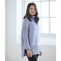 The Big Comfy Cozy Sweater in Valley Yarns Valley Superwash - 853 - Downloadable PDF