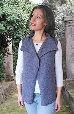 Drape Front Vest to Knit