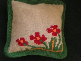 Vintage Poppy Cushion Cover