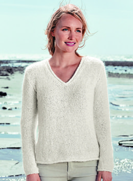 V Neck Sweater in Bergere de France Angel 50 - Mag 183 -18 - Downloadable PDF