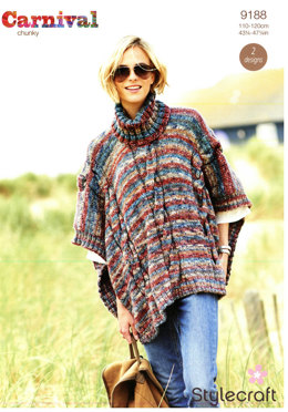 Ponchos in Stylecraft Carnival - 9188