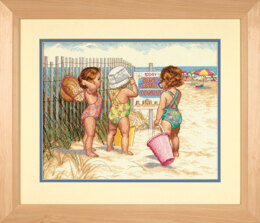 Dimensions Beach Babies Cross Stitch Kit - 36cm x 28cm