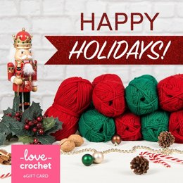 LoveCrochet eGift Card - Happy Holidays