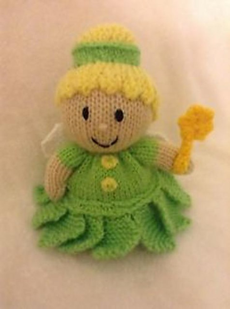 Tinkerbell inspired Choc Orange Cover / Toy Knitting pattern by Andrew Lucas