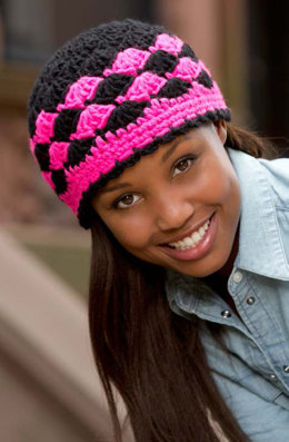 Shells are Swell Beanie in Red Heart Heads Up - LW3827 - Downloadable PDF