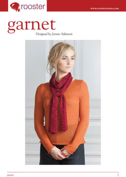 Garnet Lace Scarf in Rooster Delightful Lace