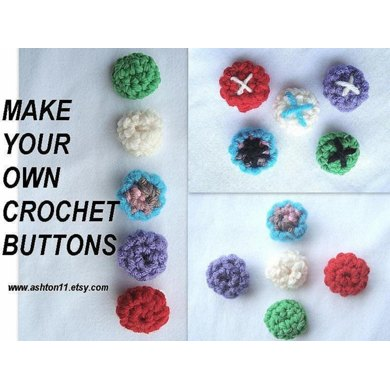 Make your own Buttons | Crochet Pattern 208