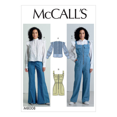 McCall's Misses' Top, Romper, and Overalls M8008 - Sewing Pattern