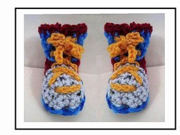 619 COLORFUL BOOTIES, Newborn to 1 year