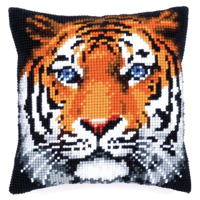 Vervaco Cross Stitch Kit: Cushion: Tiger - 40 x 40cm