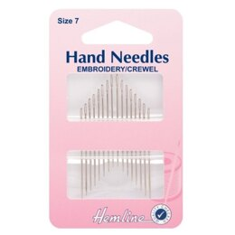 Hemline Embroidery/Crewel Needles - Size 7