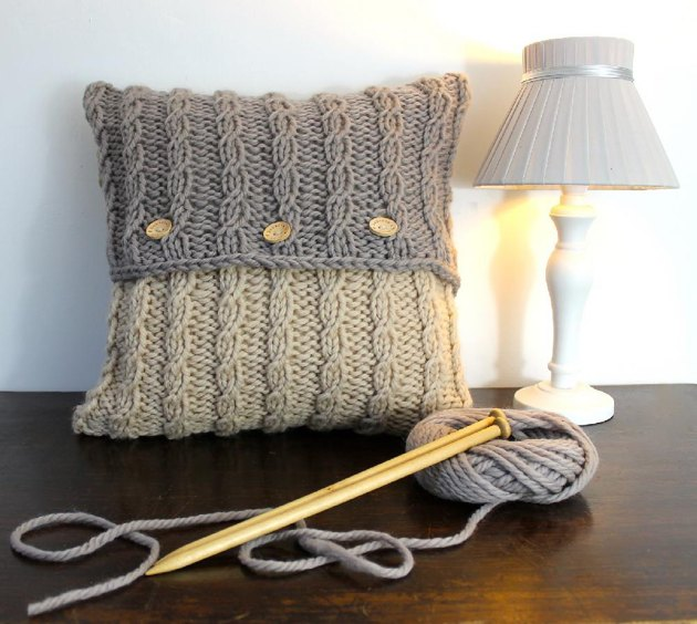 Mohair Cushion Knitting Pattern : Seafarer Cushion Cover Knitting pattern by Rebeccas Room Knitting Patt...