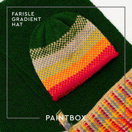 Fairisle Gradient Hat in Paintbox Yarns Wool Worsted - Downloadable PDF