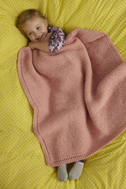 Sweet and Soft Baby Throw in Lion Brand Jiffy - 90413AD
