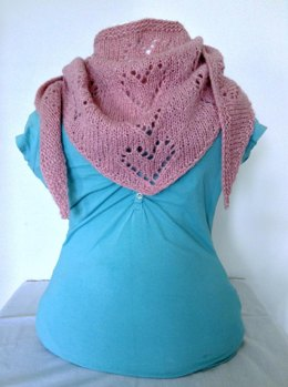 Alpaca Lace Hearts Triangle Scarf