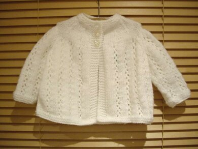 Baby Traditional Matinee Jacket Knitting Pattern By Ardree Designs