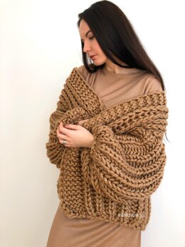 Chunky knit Serene Cardigan (inches)