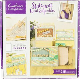 Crafter's Companion Craft Box Kit - Statement Word Edge'ables