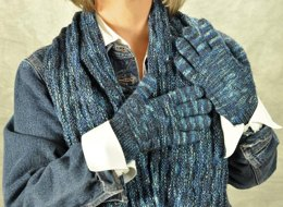 The Sylvia Dering Infinity Scarf and Gloves