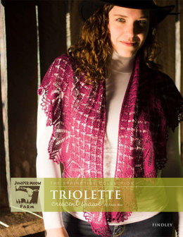 Triolette Crescent Shawl in Juniper Moon Findley - Downloadable PDF