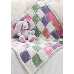 Quilt Look Blanket in Patons Beehive Baby Chunky