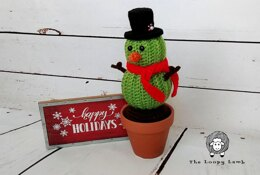 Stanley the Cactus Snowman