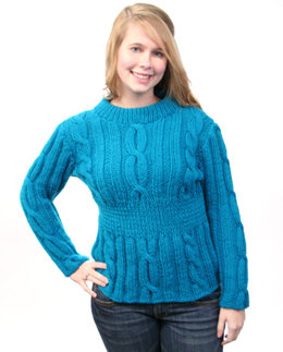 Twists & Turns Pullover in Caledon Hills Worsted Wool