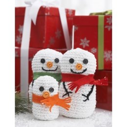 Snowman Family in Bernat Handicrafter Holidays - 472 - Downloadable PDF