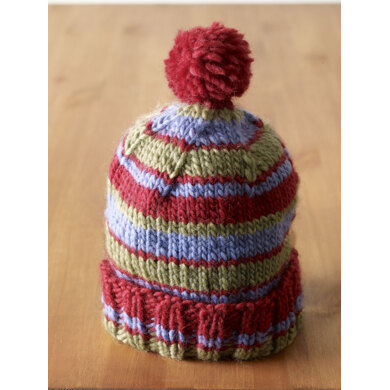 Bunny Slope Hat in Lion Brand Alpine Wool - 90040AD