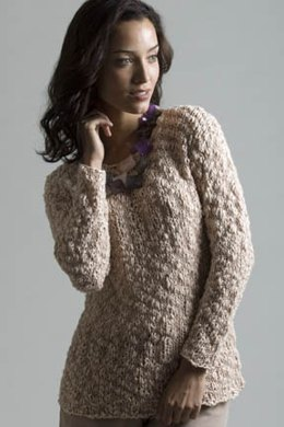 Sea Shell Pullover in Tahki Yarns Rosa