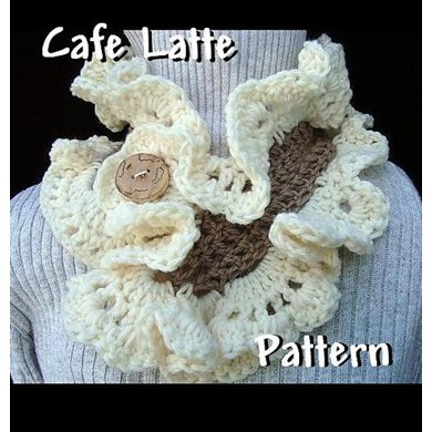 Cafe Latte Ruffled Cowl | Crochet Pattern by Ashton11