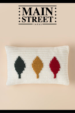 Falling Leaves Cushion Cover in Main Street Yarns Shiny + Soft - Downloadable PDF