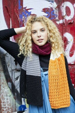 Pelham Bay Shawl in Lion Brand Touch of Merino - L80112 - Downloadable PDF