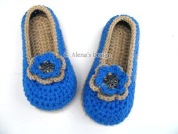 Women's Slippers With Flower
