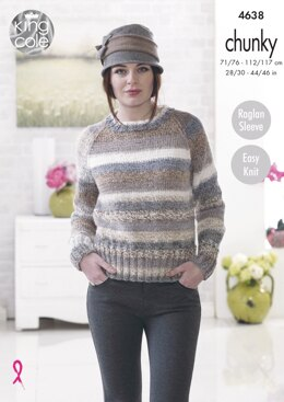 Sweaters in King Cole Cotswold Chunky - 4638 - Downloadable PDF