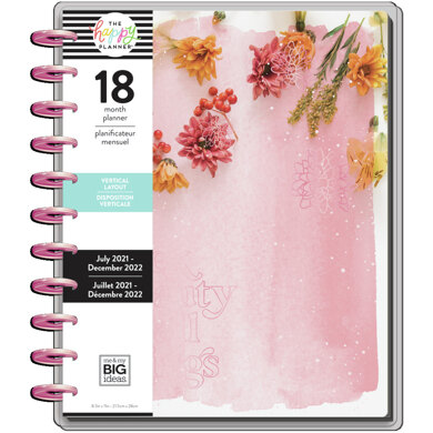 Me & My Big Ideas The Happy Planner Pressed Florals Big 18 Month Planner