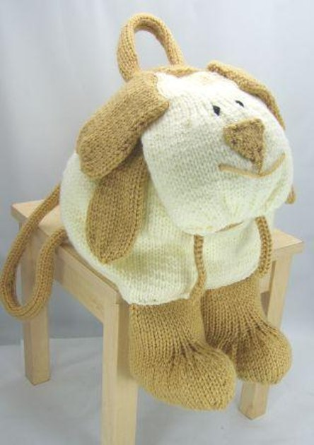 Dog Rucksack Knitting pattern by Knitting by Post