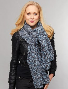 Generous Scarf to knit in Bernat Soft Boucle