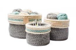 Baskets with fold over