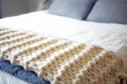 Arm Knit Chunky Garter Stitch Blanket