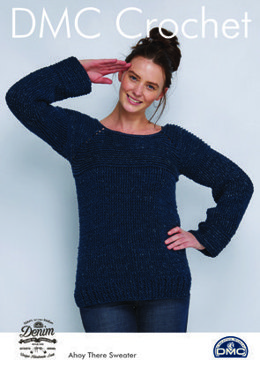 Ahoy There Sweater in Natura Denim in DMC - 15452L/2