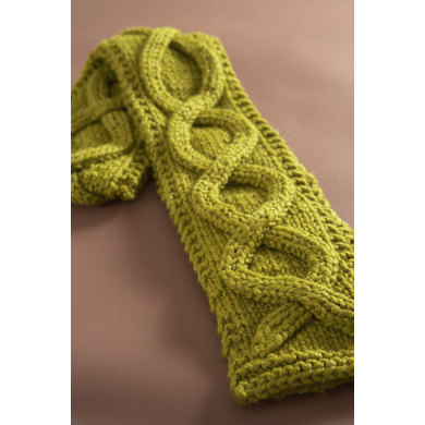 Faux Cable Scarf in Lion Brand Wool-Ease Thick & Quick - 60674AD