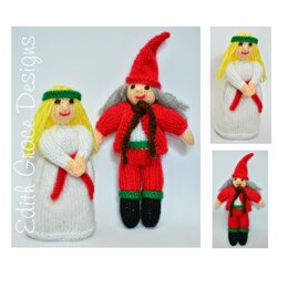 St. Lucia Doll & Christmas Elf Dolls Knitting Pattern
