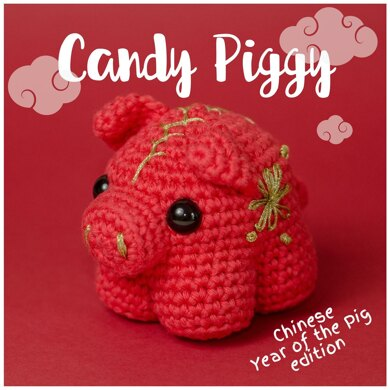 Candy Piggy - Chinese year of the pig version - Lunar New Year - Amigurumi