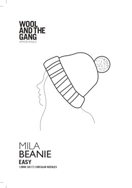 Mila Beanie in Wool and the Gang - Downloadable PDF